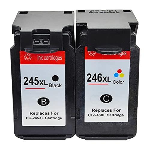 RICR Reemplazo De Cartucho De Tinta Remanufacturado para Canon PG-245 CL- 246 para Usar con PIXMA MG2420 MG2920 MG2922 MG2520 MG2522 MG3022 MG3120 MX492 TS3120 TR4527 MX4 A Set