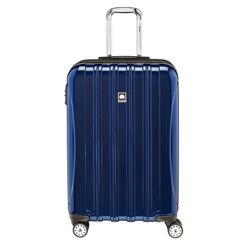 DELSEY Paris Helium Aero Hardside Expandable Luggage with Spinner Wheels, Blue Cobalt, Checked-Medium 25 Inch
