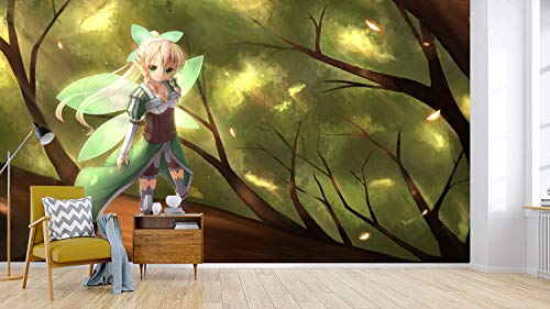 3D Print Anime Wallpaper Mural Wall Mural Wallpaper Cosplay Wall Painting Living Room Bedroom Office Hallway Decoration Wall Decoration SAO 390 x 260 cm (W x H)