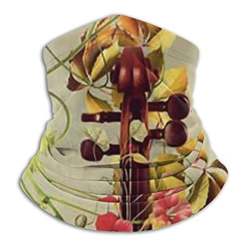 ShiHaiYunBai Tour de Cou Cagoule Microfibre Chapeaux Tube Masque Visage, Fleece Neck Warmer - Elegant Violin Neck Gaiter Tube, Bandana, Headband & Beanie