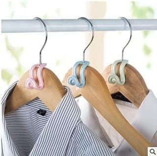 abrigos gancho para ropa color al azar pantalones falda ahorro de espacio 10 unidades de mini colgadores de nieve organizador de armario antideslizante para el hogar
