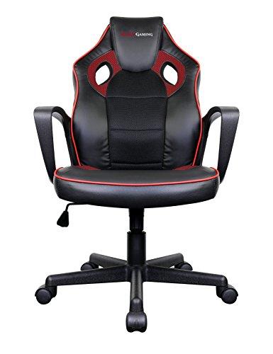 Mars Gaming MGC0BR Silla Gaming Profesional, Poliuretano, Rojo, 61.5x55x104 cm