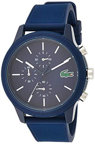 Lacoste Hommes Chronographe Quartz Montre avec Bracelet en Silicone 2010970