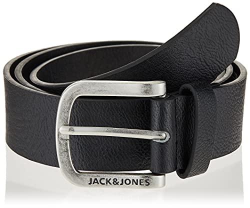 JACK & JONES Jacharry Belt Noos Cinturón, Negro (Black Detail), 110 (Talla del fabricante: 95) para Hombre