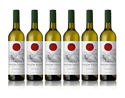 Wagon Valley - Vino blanco Chardonnay, añada 2019, 75 cl (caja de 6 botellas)