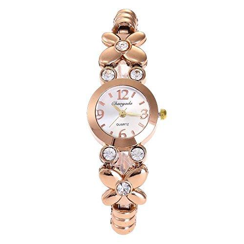 HWCOO Chaoyada Watch 2018 New Watch Ladies Diamond Bracelet Watch Fashion Watch Quartz Watch (Color : 2)