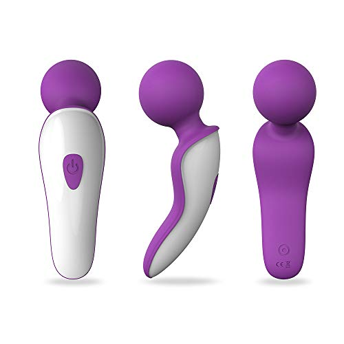 Mini Wand Massager,Fovel Wireless Cordless Portable Small Size Handheld Powerful Massage for Back Neck Shoulder Silent Waterproof