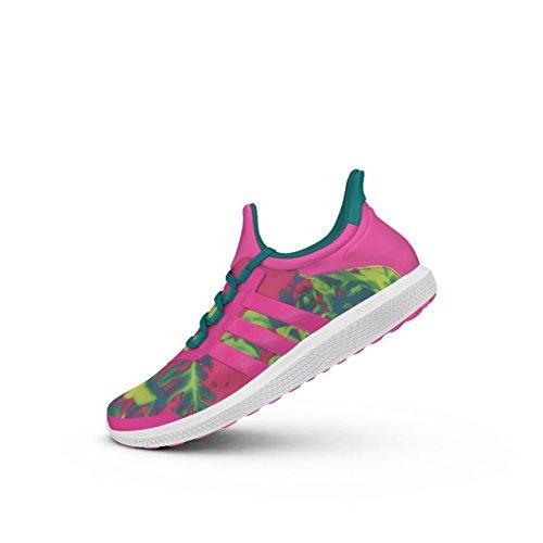 adidas CC Sonic W, Zapatillas de Tenis para Mujer, Rosa/Verde (Rosimp/Rosimp/Eqtver), 39 1/3 EU