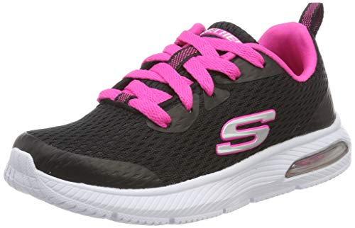 Skechers Dyna Air Jump Brights, Zapatillas para Niñas, Negro (Black Hot Pink BKHP), 36 EU