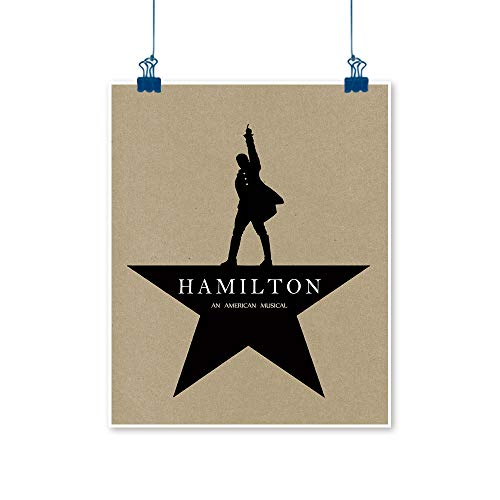 STTYE Hamilton American Musical Aesthetic Wall Art Poster Prints Texture Room Decor Pale 18x24 Inch