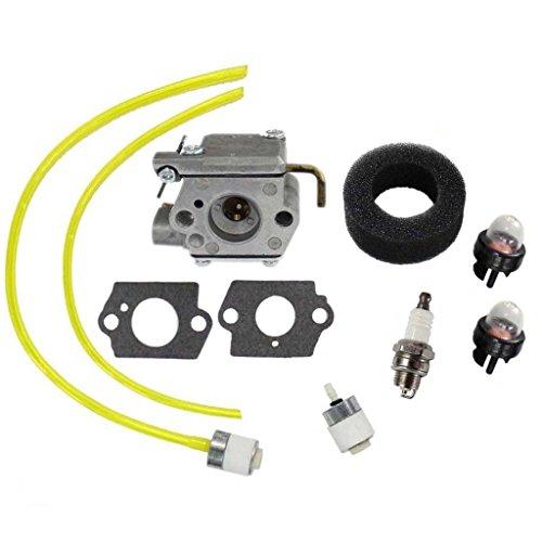 HURI Carburetor Carb Kit for MTD Troy-Bilt TB10CS TB20CS TB20DS TB65SS TB70SS TB90BC Bolens BL100 BL150 BL250 BL410 Yard Man Yard Machines YM70SS Y28 Y725 YM1000 YM320BV YM400 120R 121R