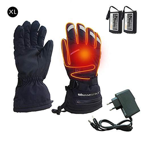 Verwarmde handschoenen voor dames en heren, thermo-handschoenen, waterdicht, voor de winter, voor camping, elektrische verwarming, wasbaar, voor buitengebruik, vissen, wandelen