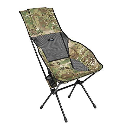 Helinox Savanna Chair,Strandstuhl XL,Campingstuhl,Aluminium,leicht,stabil,faltbar,inkl Tragetasche,Multicam,one Size