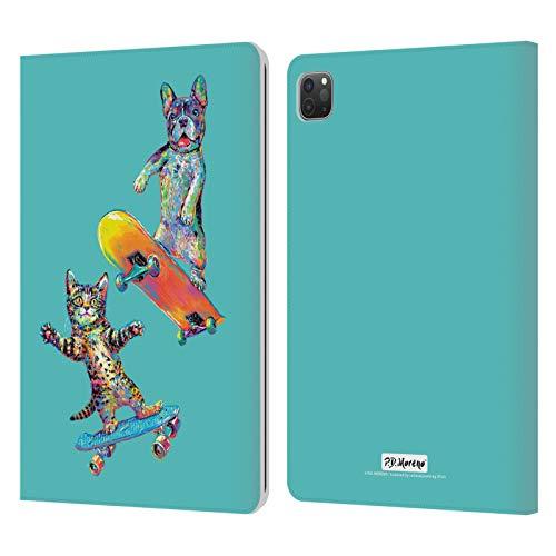 Head Case Designs Licenciado Oficialmente P.D. Moreno Pareja Skateboard Amor Divertido Carcasa de Cuero Tipo Libro Compatible con Apple iPad Pro 11 (2020/2021)