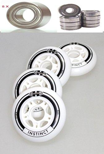 Hyper 4er Set Instinct Rolle 80mm Inliner Skates + Kugellager ABEC 9 für Skates Blades Skates K 2 Roller Blade Inliner Rolle