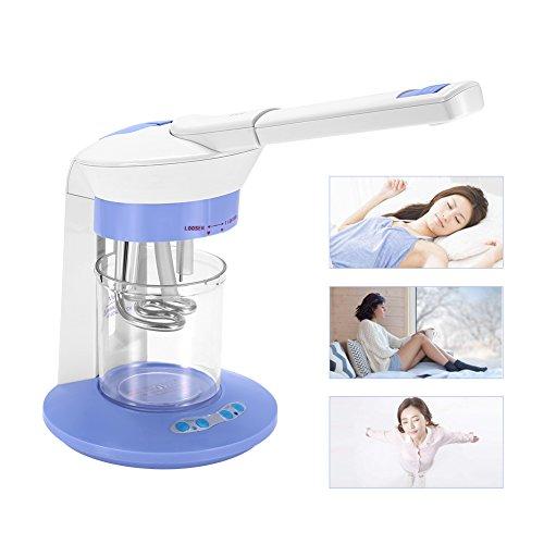 2 in 1 Ozon und Dampf Gesichtssauna, Nano Ionen Gesichtsdampfer Salon Spa Ozone Steaming Machine für Feuchtigkeitsspend Tiefreinigung