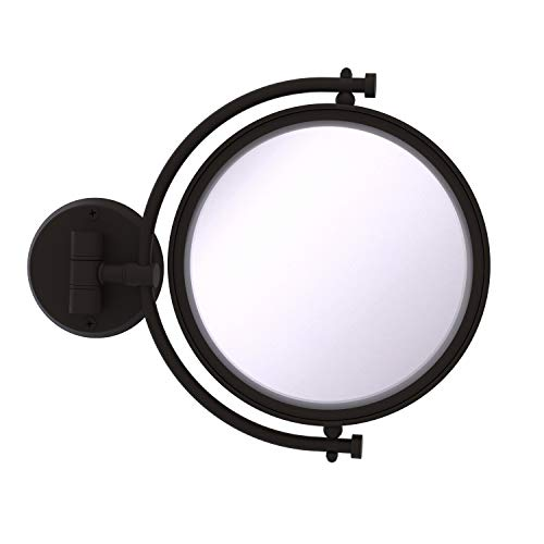 Allied Brass WM-4/4X 8 Inch Wall Mounted 4X Magnification Make-Up Mirror, Oil Rubbed Bronze -  WM-4/4X-ORB