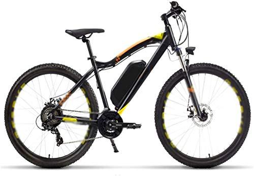 WJSWD Bicicleta de nieve eléctrica, bicicleta eléctrica de 27.5 pulgadas, 400 W, 48 V, 13 A, bicicleta de montaña de litio extraíble para adultos, 21 velocidades, batería de litio para adultos