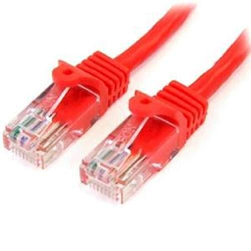 StarTech.com 45PAT3MRD - Cable de 3m Red Fast Ethernet Cat5e RJ45 sin...