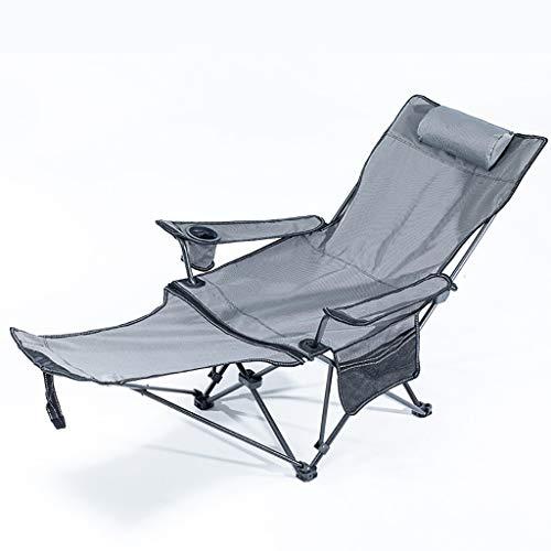 Camping-Hocker Multifunktionale Außen Klappstuhl, beweglicher kleiner Lehnstuhl, Mittagspause, Nap, Freizeit Rückenlehne, Camping und Angeln Hocker, vier Gebrauch, Sitzen, halb liegend, Liegen, Liegen
