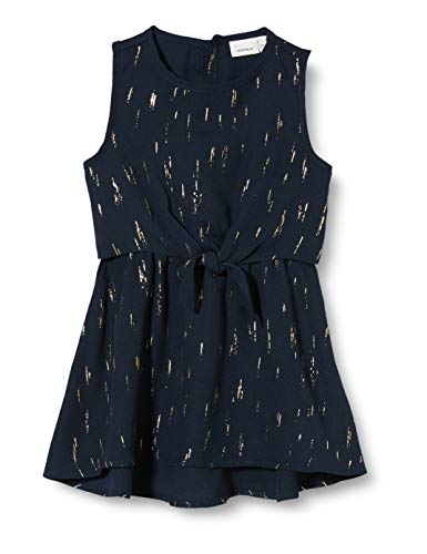 NAME IT meisjes NMFRITALINA SL DRESS CAMP jurk, blauw (Dark Sapphire Dark Sapphire), (fabrikantmaat: 92)