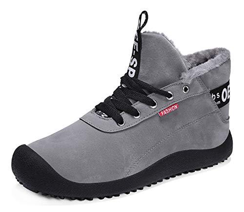 Hombre Invierno Botines Fur Calentar Botas Botas de Nieve Al Aire Libre Boots Impermeables Anti-Deslizante Zapatos Zapatos de Senderismo y Trekking 39-48 EU