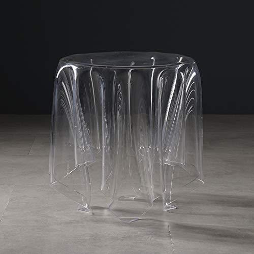 ZTCWS Plexiglas rund Display-Riser, Teetisch, für Wohnzimmer-Sofa Side Couchtisch, Dekoration im Schlafzimmer, Lounge, Empfang,S