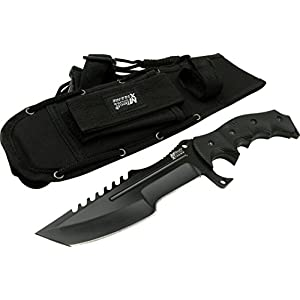 MTECH USA XTREME MX-8054 Fixed Blade Tactical Knife, Black Tanto Blade, Black G10 Handle, 11-Inch Overall