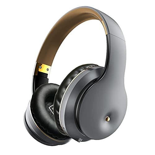 WWJ B5 Bluetooth 5.0, Fone de ouvido esportivo recarregável sem fio recarregável, Fone de ouvido para jogos esportivos ajustável e dobrável com microfone Cinza