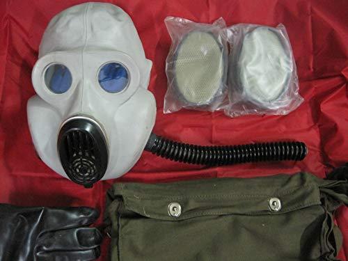 NVA Gasmaske Gorilla Gummischlauch Filter Gummihandschuhe Nasen-Mundschutz Schutzmaske