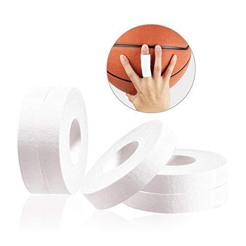 JEEZAO 5er Set Klettern Fingertape,BJJ Tape,Boulder Tape 15mm/10mmx13.7m, ideales Fingertape und Sporttape für Bouldern Kraftsport Volleyball Handball Kampfsport Torwart Golf (Weiß,1cm)