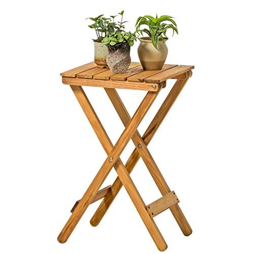 LXF Pots Plante Fleurs Table à café pliante de style nordique Table à café pliante simple en bois massif ( Couleur : Rétro couleur )
