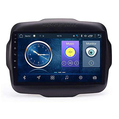 WY-CAR 9 Pollici in Dash Car Stereo Android 8.1 MP5 Player per Jeep Renegade (2016-2018), GPS Stereo 2.5D Curvo Edge Touch Screen, WiFi, Bluetooth, retromarcia