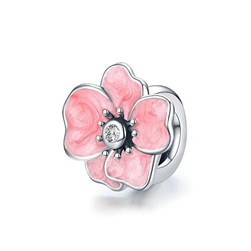 Mijn bedels Sterling Silver Stopper Pink Flower