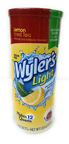 Wyler's Soft Drink Mix Iced Tea with Lemon Makes 12 Qts