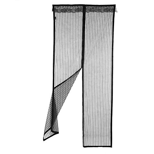 nologo Screen Door Magnetic, Fly Magnetic Screen Door Hochleistungs-Sommervorhang Anti-Moskito-Fliegen Insekt aus Frischluft in(Schwarz gestreift)
