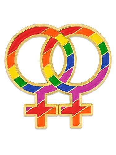 PinMart Gay Pride Double Rainbow Venus Symbol LGBTQ Enamel Lapel Pin