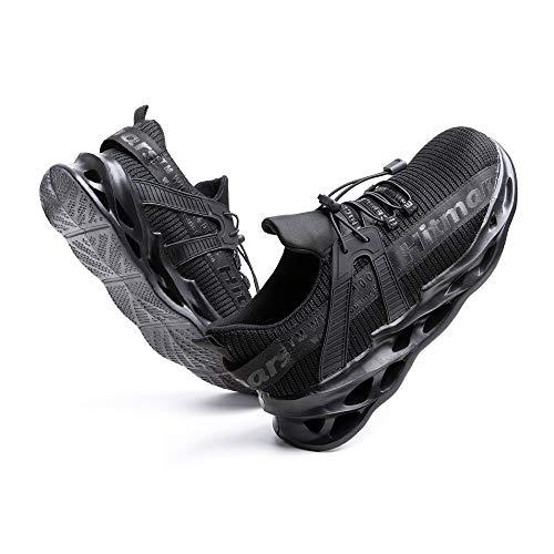 [Hitmars] 安全靴 メンズ あんぜん靴 レディース 作業靴 ふみぬき防止 スニ一カ一 軽量 むれない 軽業 鉄芯入り セーフティーシューズ おしゃれ 耐油性 耐滑 鋼先芯 工事現場 黒 24.5�p