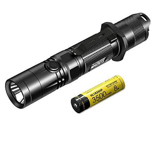 Nitecore MH12GTS Taschenlampe, 1800 Lumen, wiederaufladbar, über USB, Schwarz