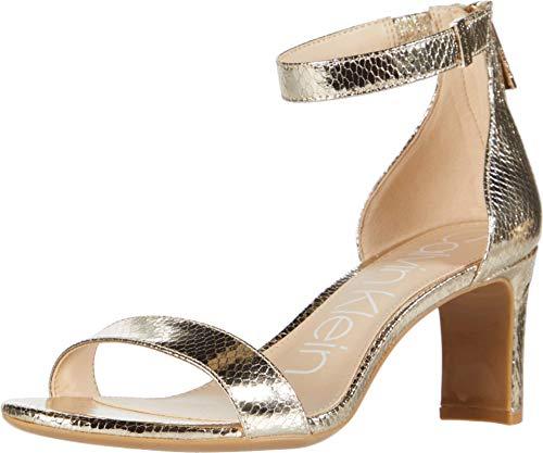 Calvin Klein Women's Heeled Sandal, Champagne, 6.5 M