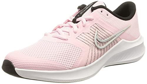 Nike Unisex Kinder Downshifter 11 Walking-Schuh, Pink Foam/Metallic Silver-Bla, 40 EU