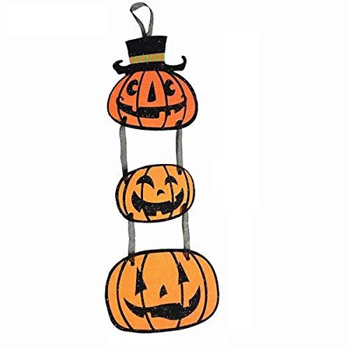Heatigo Halloween hängende Dekorationen, Halloween Zeichen für Tür Hängende Kürbis Festliche Atmosphäre Parteidekoration