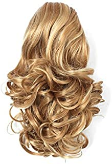 """OneDor 12"""" Curly Synthetic Clip In Claw Ponytail Hair Extension Synthetic Hairpiece 115g with a jaw/claw clip (24H613)"""