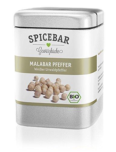 Spicebar Urwaldpfeffer Malabar-Pfeffer Weiß aus Kerala, Bio (1 x 70g)