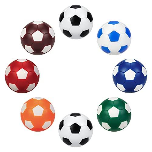 BEBUPO Calcio Balilla 8 Pezzi, Palline Calcio Balilla 32mm Mini Palloni Calcio Ricambio per Accessorio Gioco Tavola Biliardino