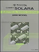 2000 Toyota Camry Solara Coupe Wiring Diagram Manual Original