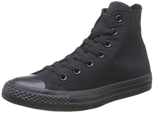 Converse Chuck Taylor All Star Canvas High Top Sneaker Black/White 8 M US Women / 6 M US Men