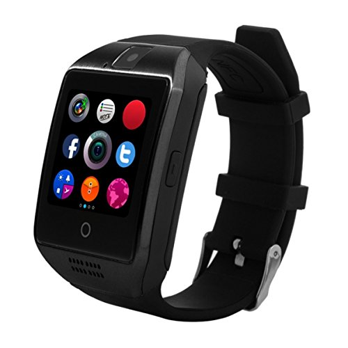 KXCD Bluetooth Smart Watches Q18 con fotocamera per Android Phone IOS iphone Huawei Samsung