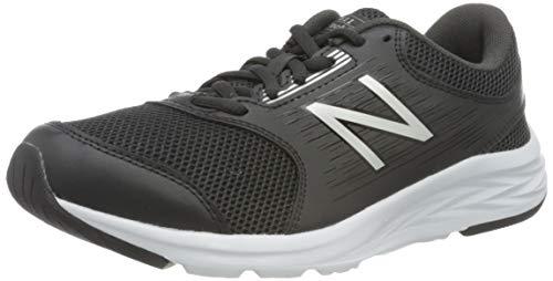 New Balance 411 Sneakers, Zapatillas de Correr Mujer, Negro (Black/White), 37.5 EU
