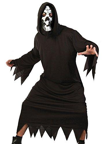 Brauns-Heitmann 6868 - Costume Demone Uomo con Maschera, Taglia XXL, Il Nero
